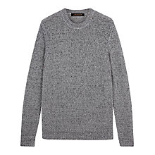 Buy Jaeger Tape Tuck Stitch Jumper, Grey Online at johnlewis.com