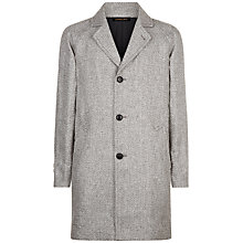 Buy Jaeger Linen Overcoat, Black/White Online at johnlewis.com