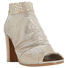 Buy Dune Black Jakie Peep Toe Shoe Boots, Nude Online at johnlewis.com
