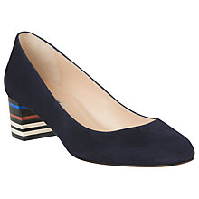 Buy L.K. Bennett Aasha Block Heeled Court Shoes, Navy Online at johnlewis.com