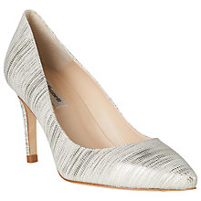 Buy L.K. Bennett Floret Pointed Court Shoes, Metallic/Cream Online at johnlewis.com