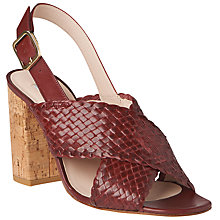 Buy L.K. Bennett Mel Cross Strap Block Heeled Sandals, Red Damson Online at johnlewis.com
