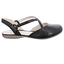 Buy Josef Seibel Fiona 13 Cross Strap Pumps, Black Online at johnlewis.com