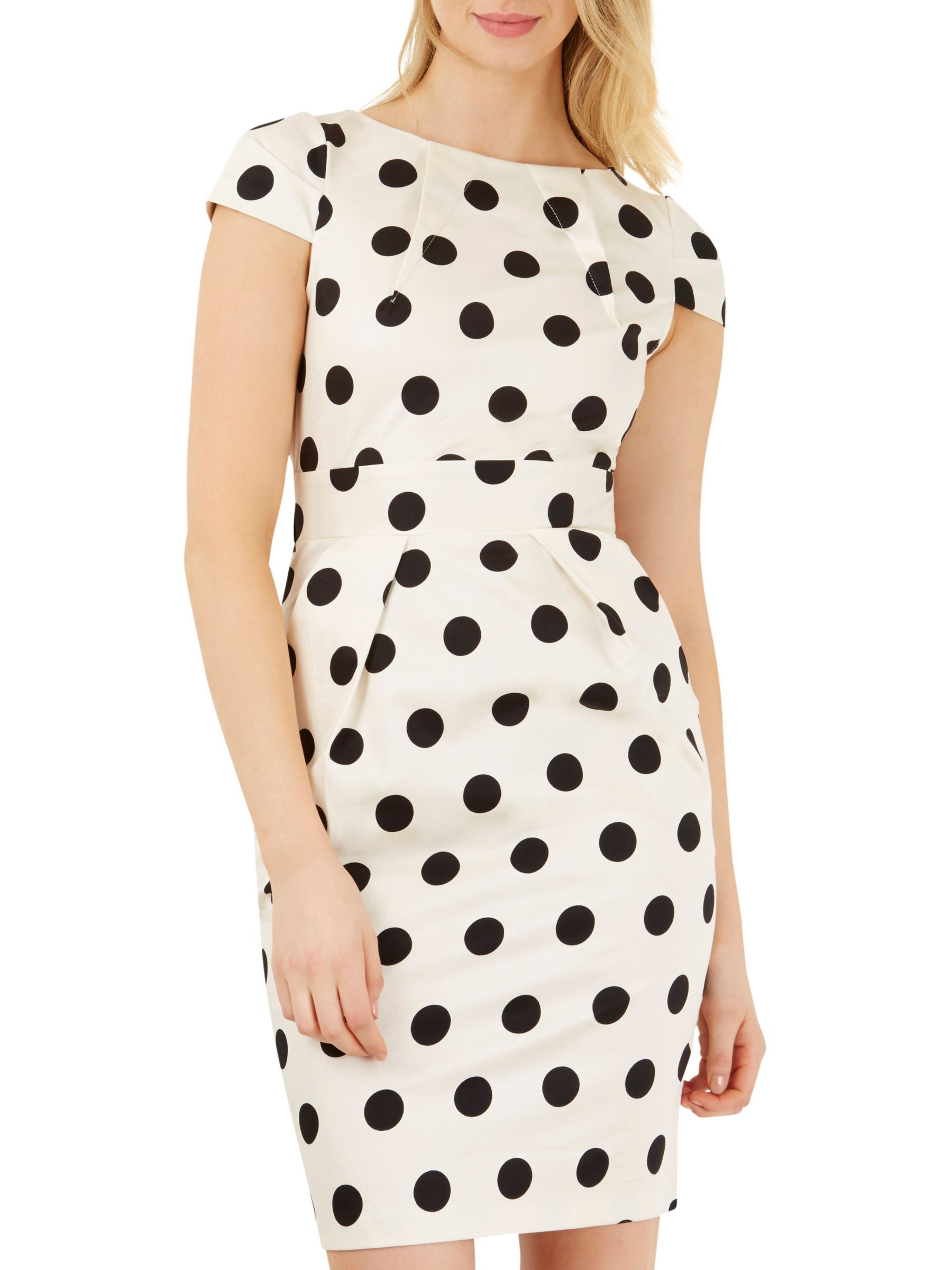 Closet Closet Polka Tie Back Dress, Black/White