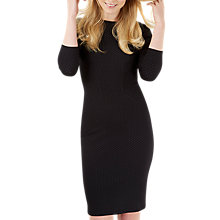 Buy Closet Three-Quarter Sleeve Bodycon Dress, Black Online at johnlewis.com