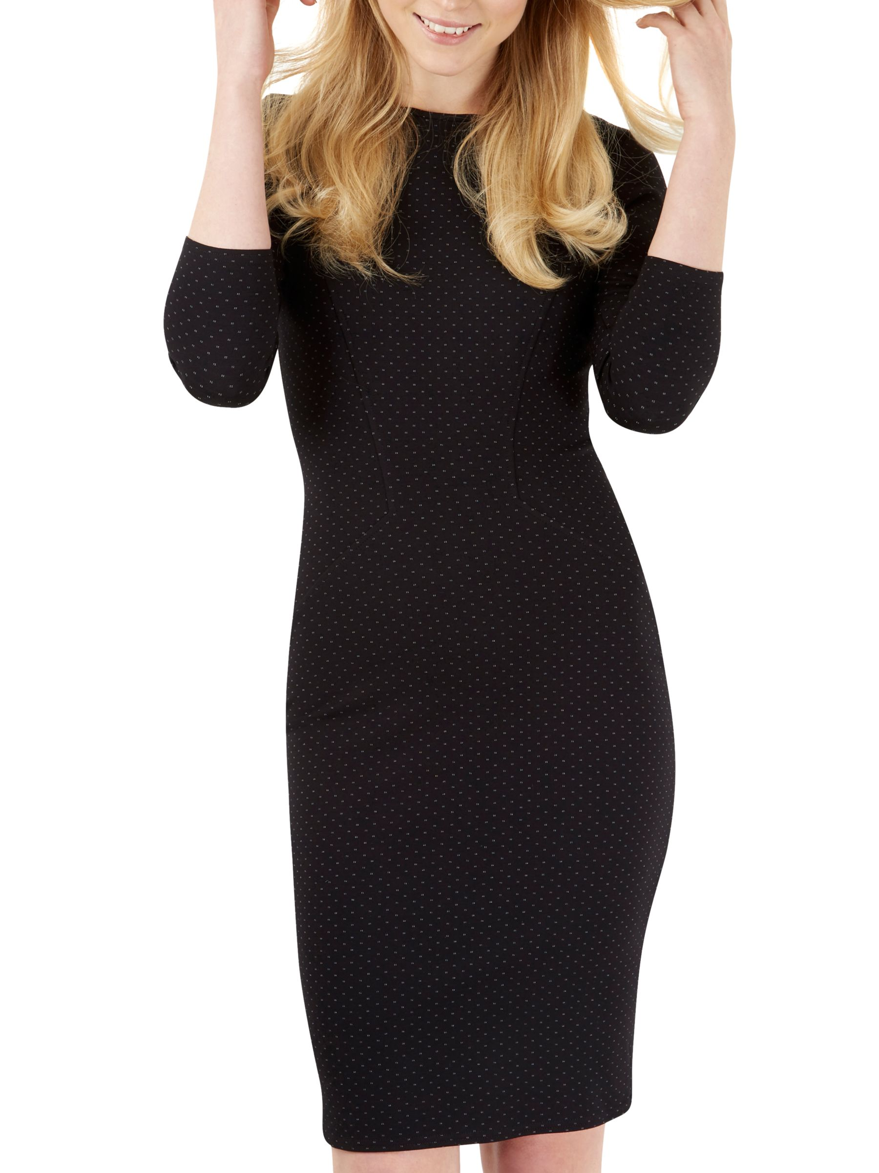 Closet Closet Three-Quarter Sleeve Bodycon Dress, Black