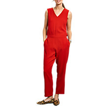 Buy hush Open-Back Jumpsuit, Red Online at johnlewis.com