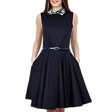 Buy Closet Contrast Belted Skater Dress, Multi Online at johnlewis.com