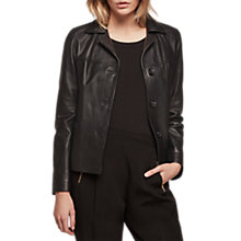Buy Gerard Darel Vadim Leather Jacket, Black Online at johnlewis.com