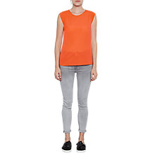 Buy French Connection Classic Polly Plains Capped Sleeve T-Shirt Online at johnlewis.com