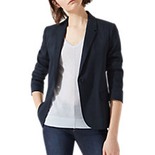 Buy Jigsaw Portofino Linen Jacket, Dark Navy Online at johnlewis.com