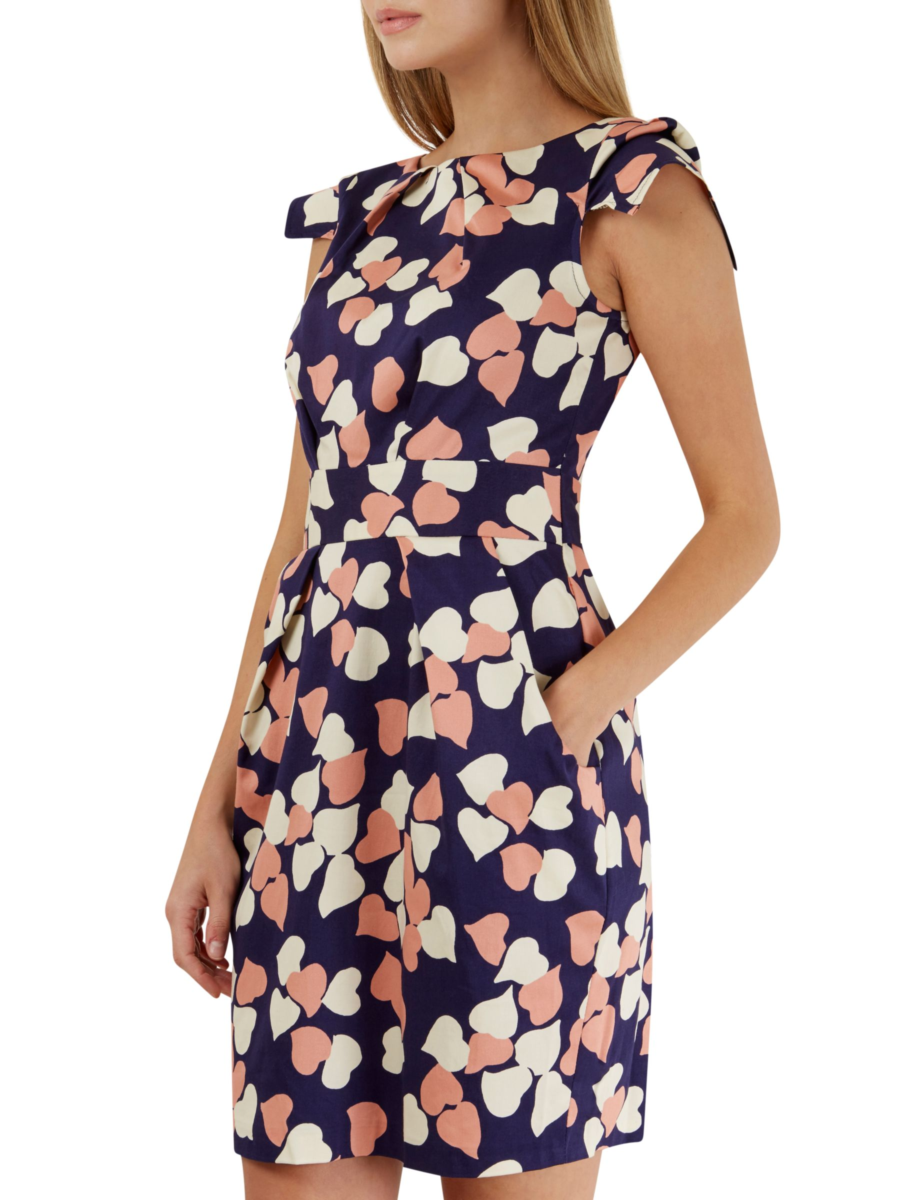 Closet Closet Heart Print Tulip Dress, Multi