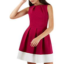 Buy Closet Contrast Border Dress, Magenta Online at johnlewis.com