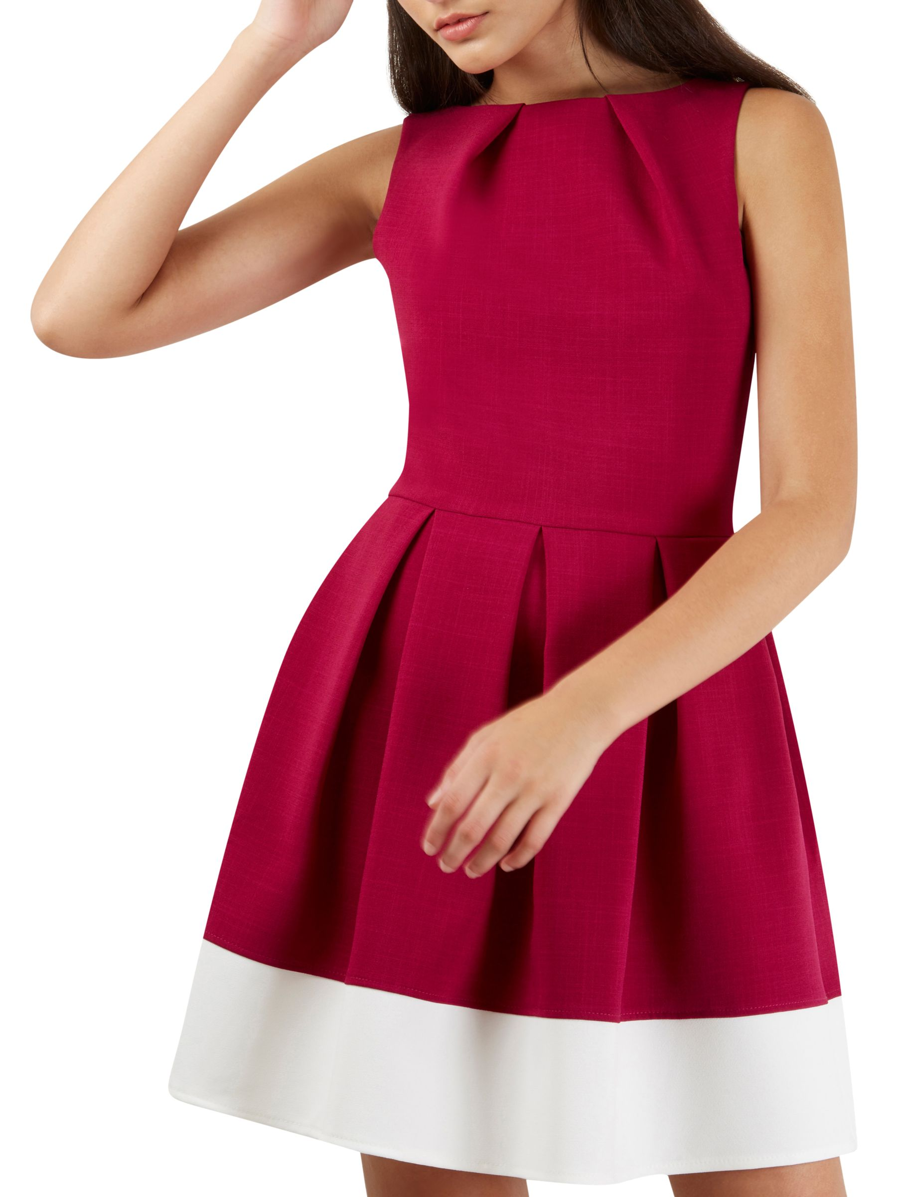 Closet Closet Contrast Border Dress, Magenta