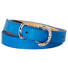 Buy Karen Millen O Ringer Skinny Leather Belt, Blue Online at johnlewis.com