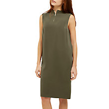 Buy Jaeger Zip Detail Shift Dress, Green Online at johnlewis.com