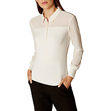 Buy Karen Millen Jersey Shirt, Ivory Online at johnlewis.com
