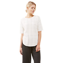 Buy Jigsaw Filament Check Jumper, Ivory Online at johnlewis.com