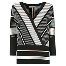 Buy Oasis Briony Stripe Jumper, Black/Multi Online at johnlewis.com