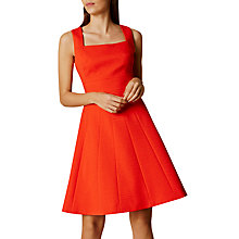 Buy Karen Millen Textured Day Dress, Orange Online at johnlewis.com