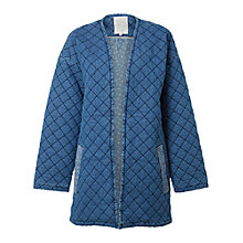 Buy White Stuff Quilted Homespun Jacket, Blue Online at johnlewis.com