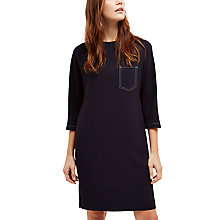 Buy Jaeger Top Stitch Pocket Detailing Dress, Navy Online at johnlewis.com