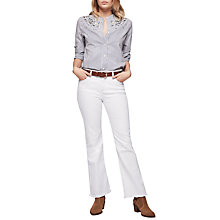 Buy Gerard Darel Peggy Trousers, White Online at johnlewis.com