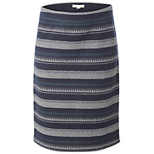 Buy White Stuff Shadow Stripe Skirt, Ink Pot Blue Online at johnlewis.com