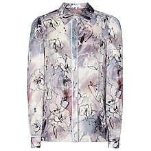 Buy Reiss Mia Printed Long Sleeve Blouse, Grey Online at johnlewis.com