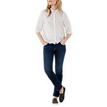 Buy White Stuff Boyfriend Jeans, Navy Online at johnlewis.com