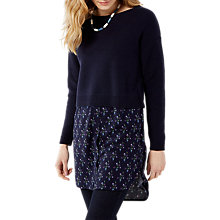 Buy White Stuff Blossom Tunic Top, Wallpaper Blue Online at johnlewis.com