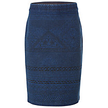 Buy White Stuff Printed Kilmory Skirt, Denim Online at johnlewis.com