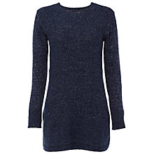 Buy White Stuff Transfer Stitch Tunic Jumper, Navy Online at johnlewis.com