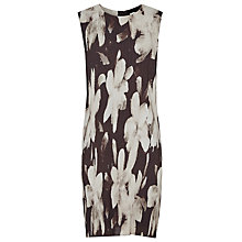 Buy Reiss Devan Printed Plisse Dress, Black/Gold Online at johnlewis.com