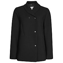 Buy Reiss Ashby Draped Jacket, Black Online at johnlewis.com