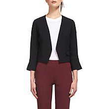 Buy Whistles Alina Split Cuff Jacket, Black Online at johnlewis.com