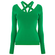Buy Warehouse Cut Out V-Neck Jumper Online at johnlewis.com