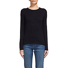 Buy Whistles Annie Sparkle Knit Jumper, Navy Online at johnlewis.com