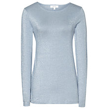 Buy Reiss Sia Metallic Knit, Powder Blue Online at johnlewis.com