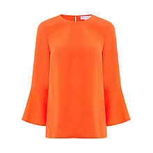 Buy Warehouse Fluted Sleeve Top Online at johnlewis.com