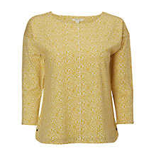Buy White Stuff Birch Jersey T-Shirt, Camomile Yellow Online at johnlewis.com