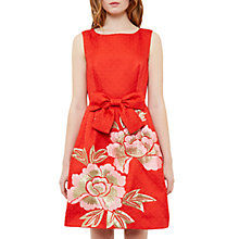 Buy Ted Baker Regal Romance Deemey Skater Dress, Bright Orange Online at johnlewis.com