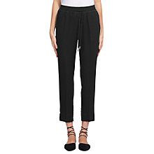 Buy Whistles Easy Linen Trousers, Grey Online at johnlewis.com
