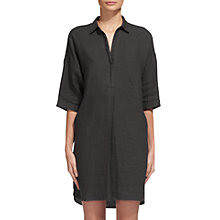 Buy Whistles Lola Linen Dress, Grey Online at johnlewis.com