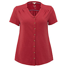 Buy White Stuff Violetta Jersey Shirt, Adzuki Red Online at johnlewis.com