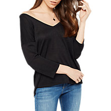 Buy Miss Selfridge Lattice Back Top, Black Online at johnlewis.com