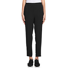 Buy Whistles Mia Zip Trousers, Black Online at johnlewis.com