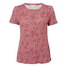 Buy White Stuff Violetta Sands Printed Linen Jersey Shirt, Adzuki Red Online at johnlewis.com