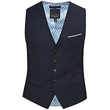 Buy Ted Baker Harvwai Linen-Blend Waistcoat, Navy Online at johnlewis.com