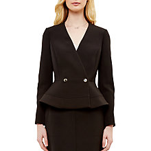 Buy Ted Baker Silaa Double Breasted Peplum Jacket Online at johnlewis.com
